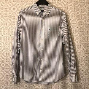Nautica Striped button down shirt sz Small